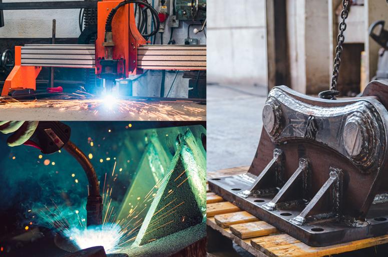 Saddle Fabrication Collage